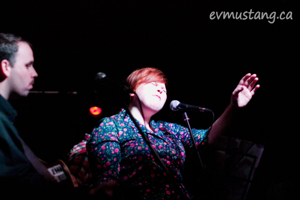 image of Kate LeDuce singing at the 24 Hour Music Project