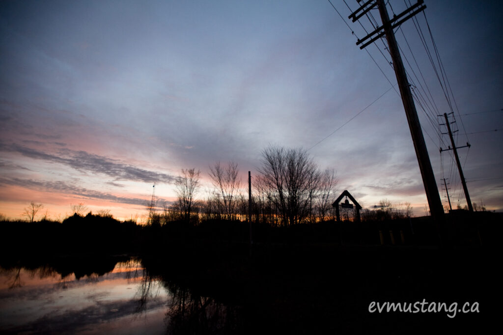 image of sunset over Otonabee Trail, Peterborough