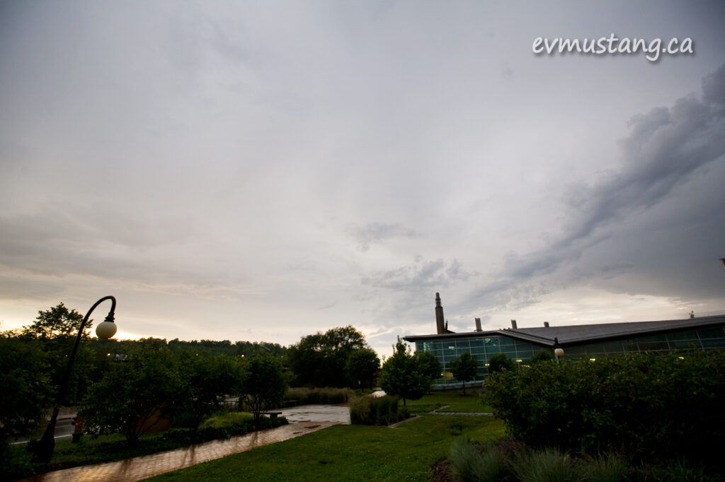 image of Trent University after a big storm