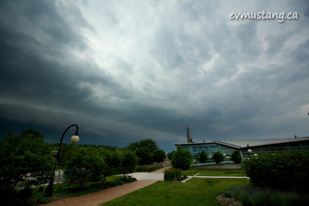 image of Trent University under a big storm