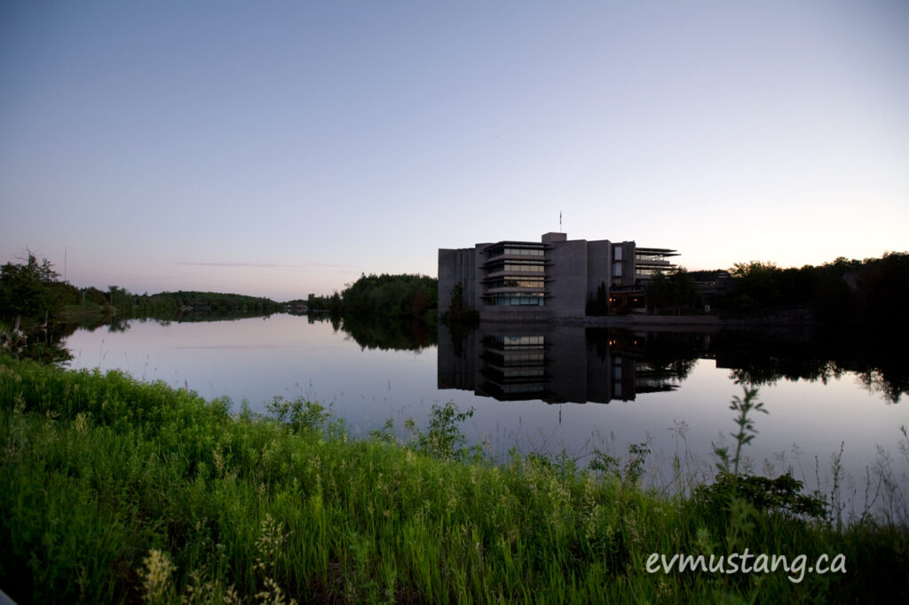image of Trent University on a still evening
