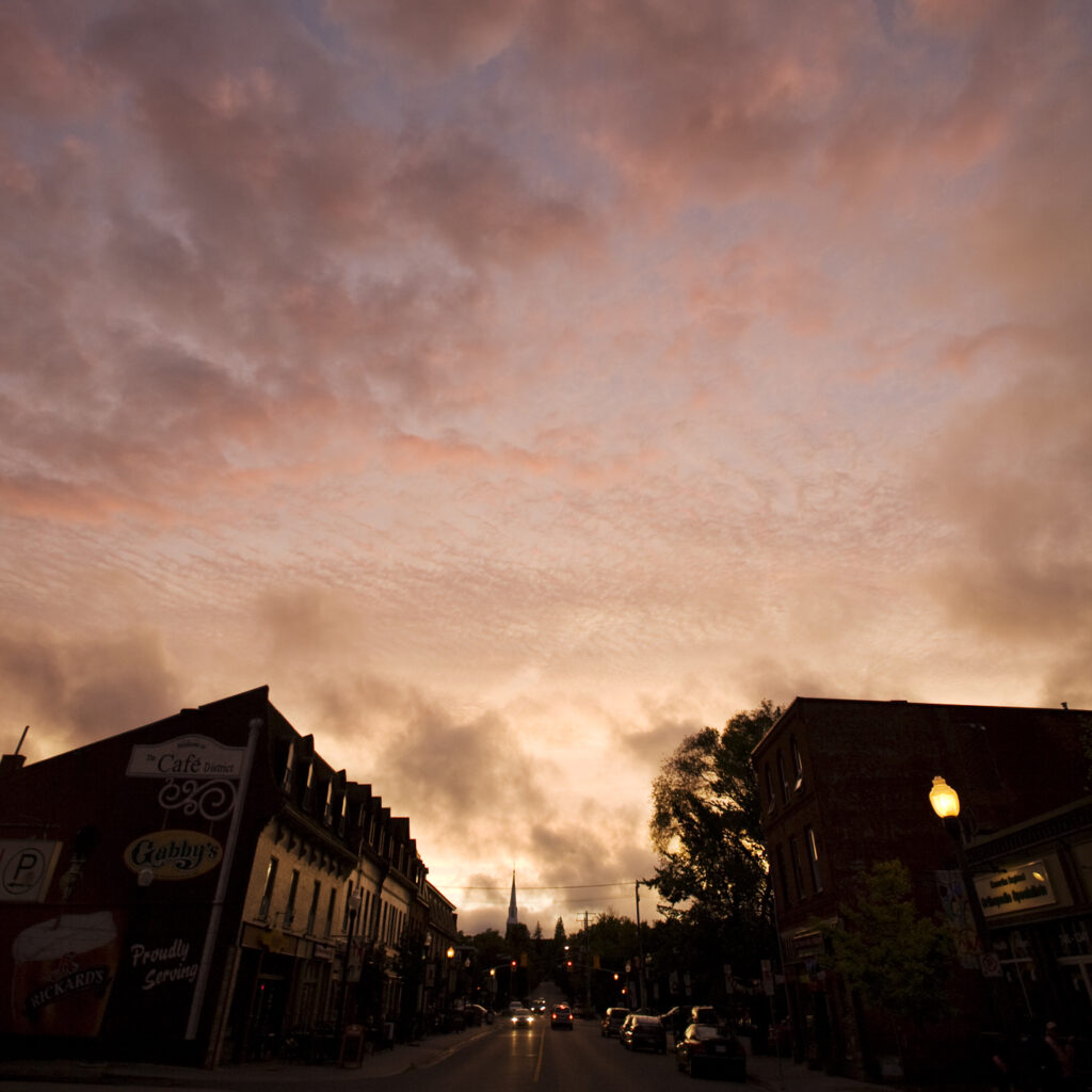 image of Hunter Street at sunset