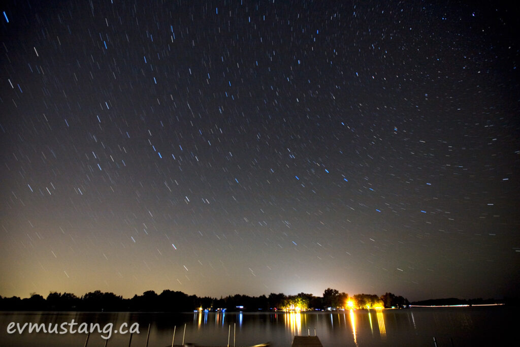 image of stars over gannon bay