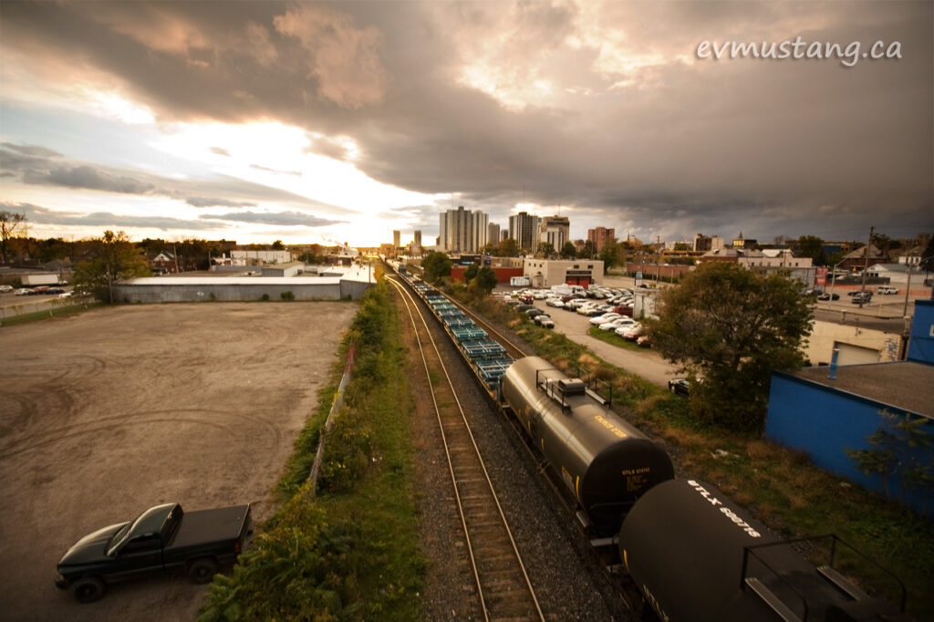 image of train going through london, ontario