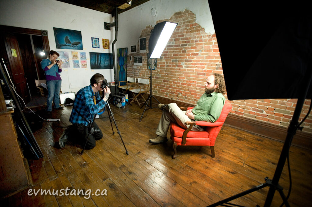 image of film shoot at the darkroom project, peterborough