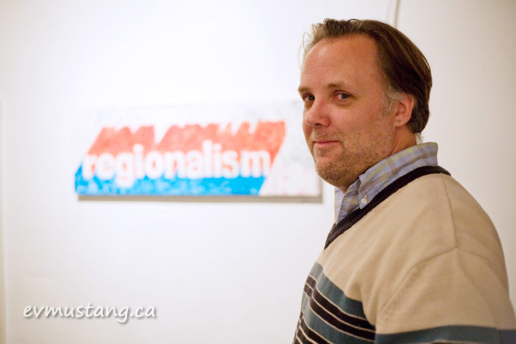 image of jeff macklin at gallery in the attic