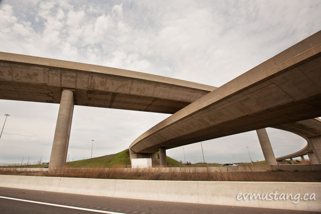 image of crossing overpasses over the 401