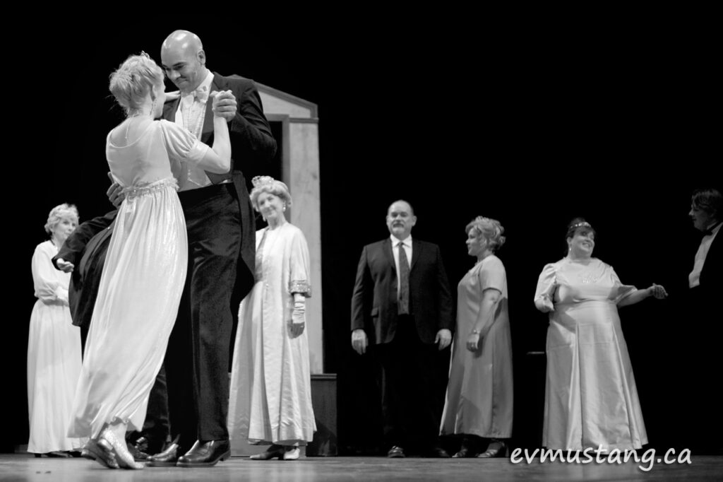 image from dress rehearsal of St. James Players' My Fair Lady