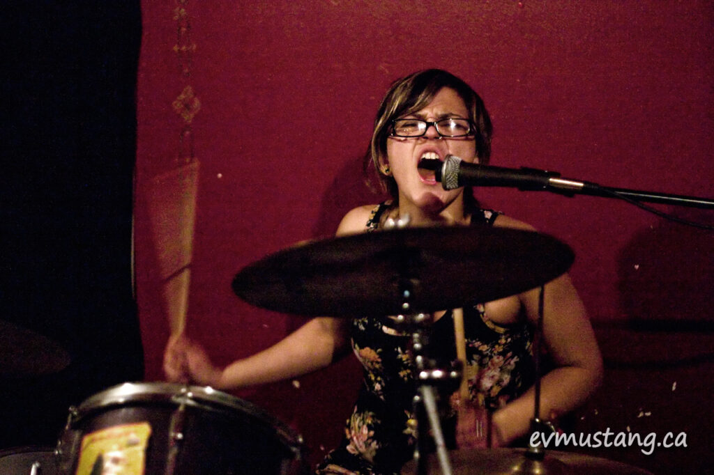 image of woman drumming