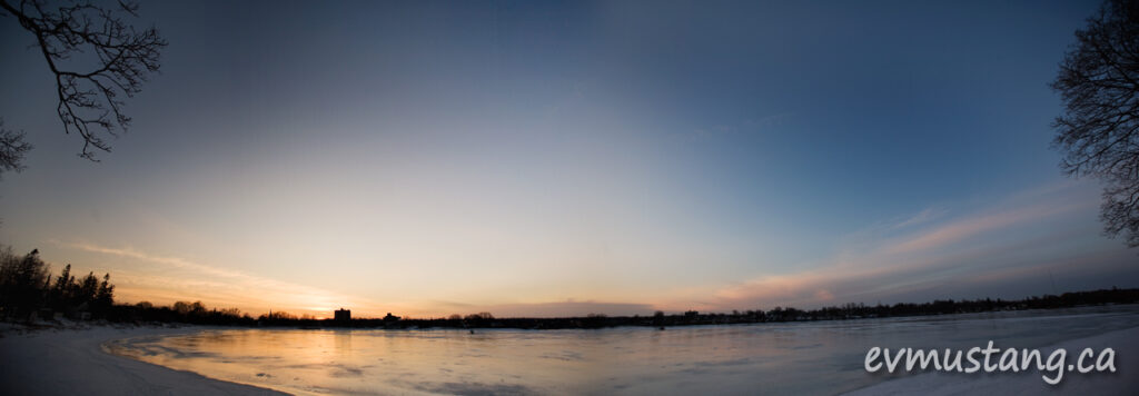 image of Little Lake, Peterborough in winter