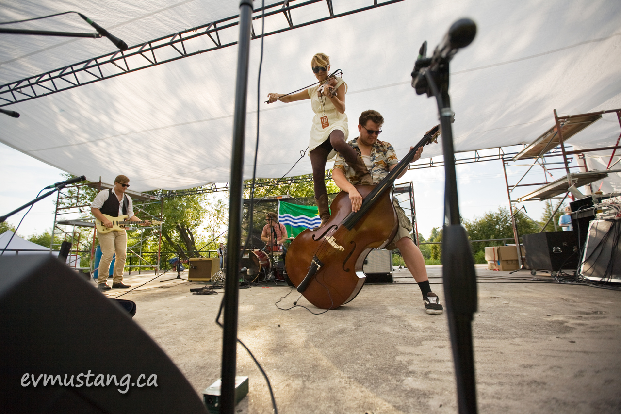 image of Express and Co. playing at the Peterborough Folk Festival
