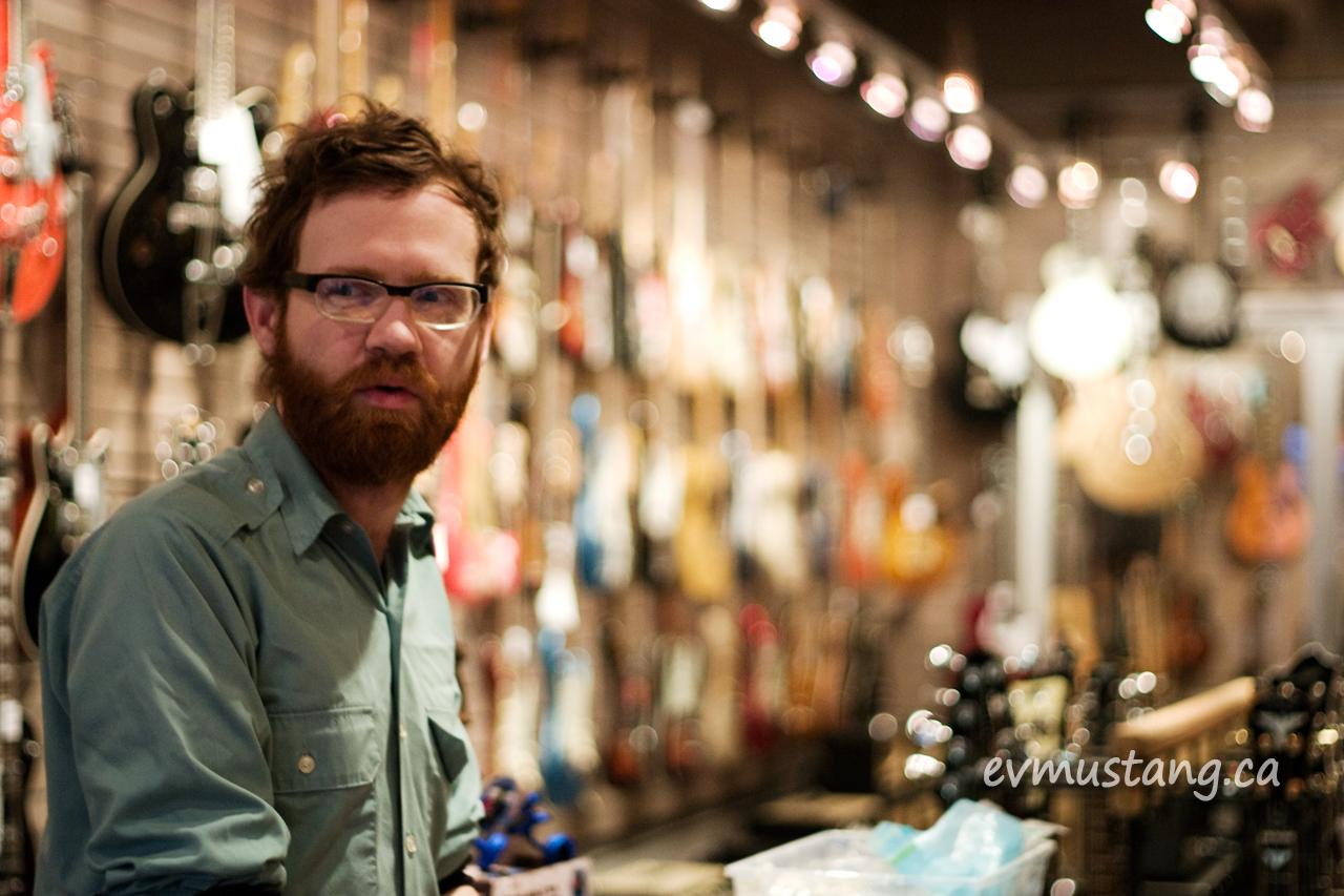 image of Wyatt Burton in the Guitar Boutique