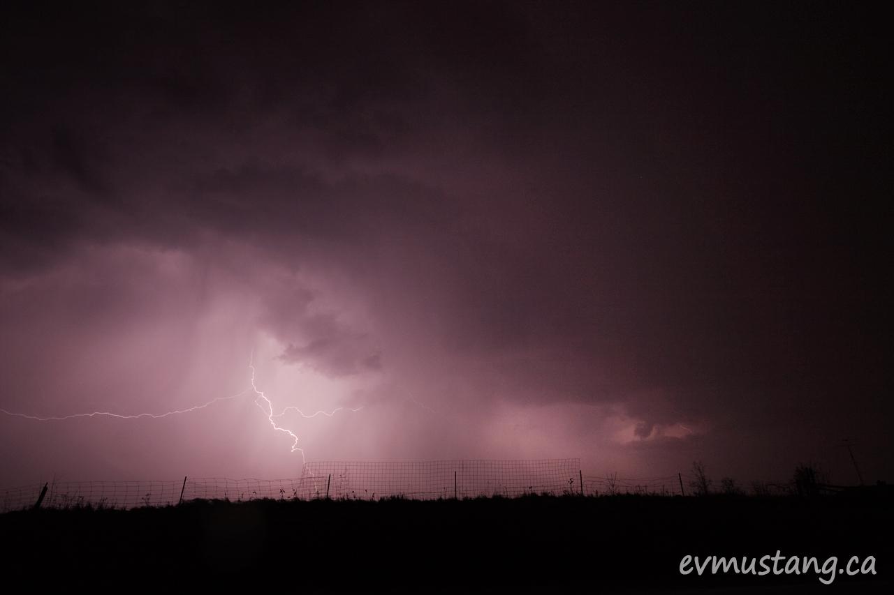 image of lightning at night