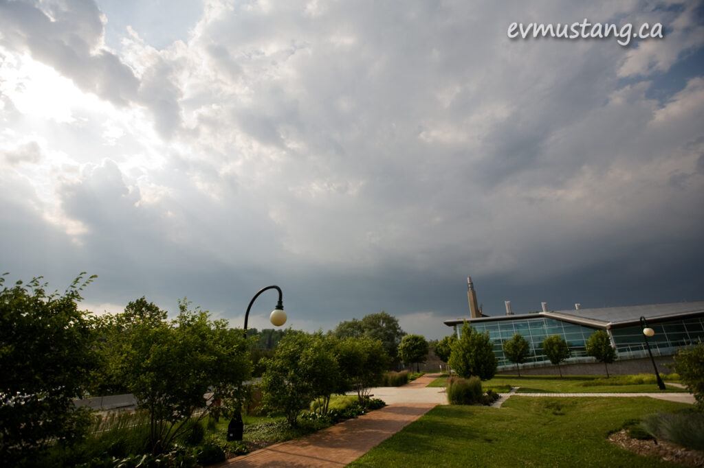 image of Trent University before a big storm