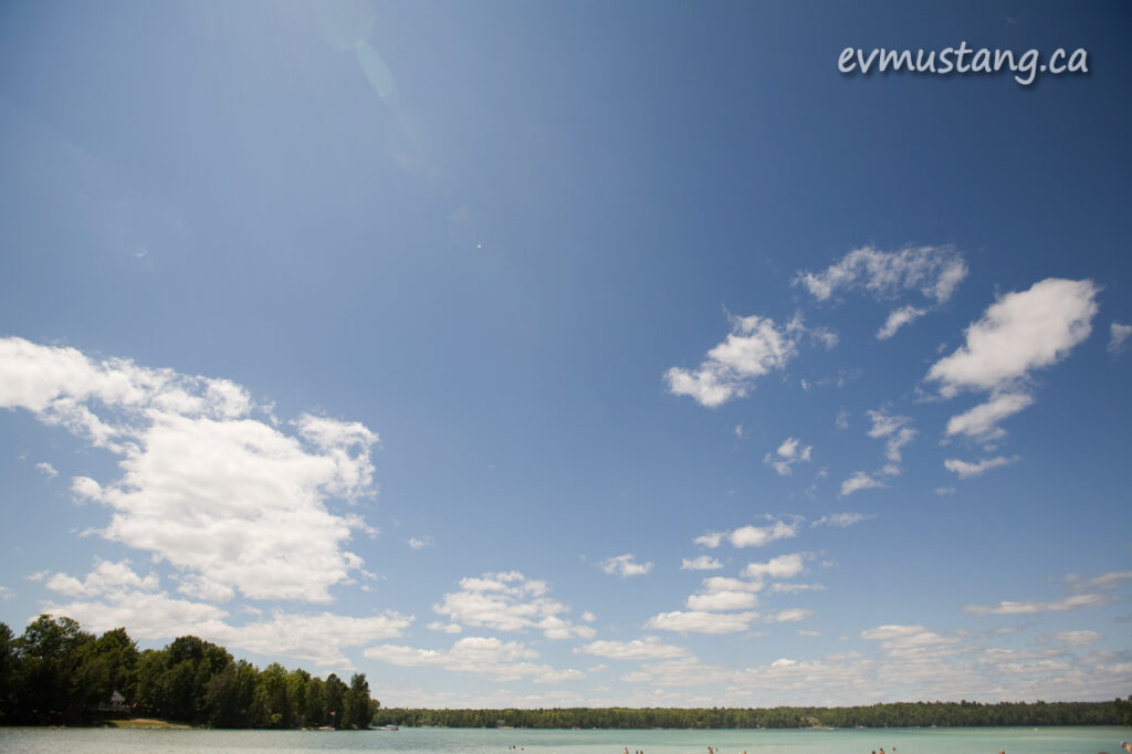 image of sky and water at Sandy Beach