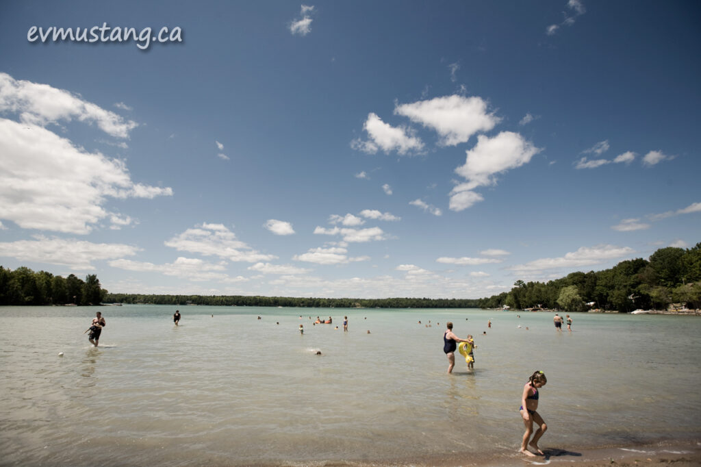 image of bathers at Sandy Beach summer, 2012