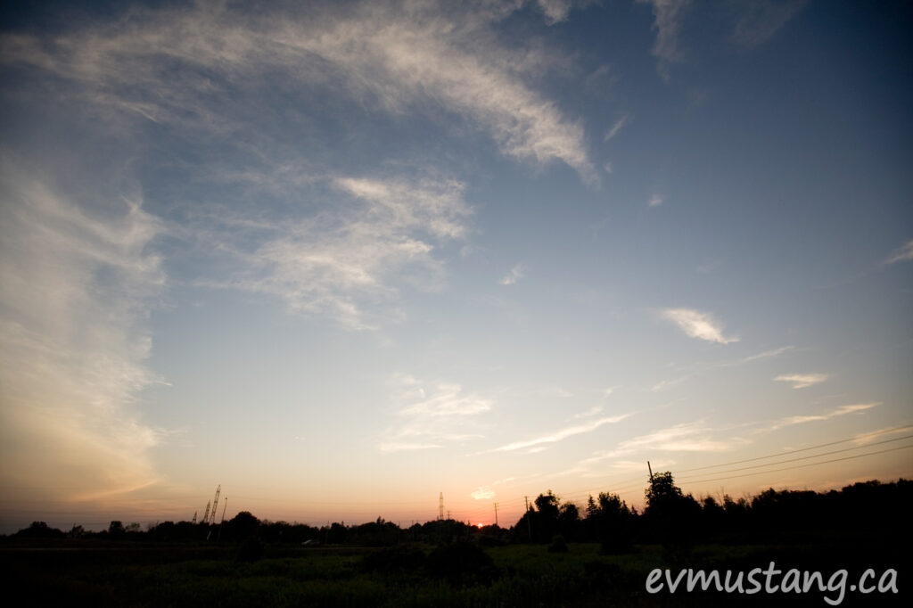 image of sunset over the south end of london, ontario