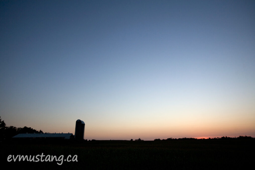 image of sunset over the north end of peterborough, ontario